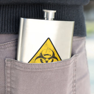 biohazard hip flask