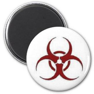 biohazard imán redondo 5 cm