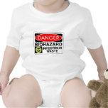 Biohazard Infectious Waste Baby Bodysuit