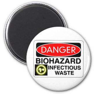 Biohazard Infectious Waste Magnet
