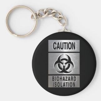 Biohazard Isolation Basic Round Button Keychain