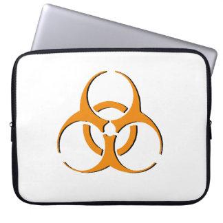 Biohazard Laptop Sleeve - Orange on Black