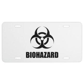 Biohazard License Plate