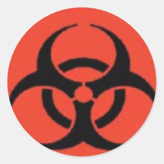Biohazard Logo Stickers