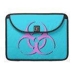 """Biohazard Macbook Sleeve 13"""" - Pink Black Blue Sleeve For MacBooks"""