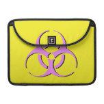"Biohazard Macbook Sleeve 13"" - Pink Black Yellow MacBook Pro Sleeves"