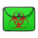 """Biohazard Macbook Sleeve 13"""" - Red Black Green Sleeves For MacBooks"""