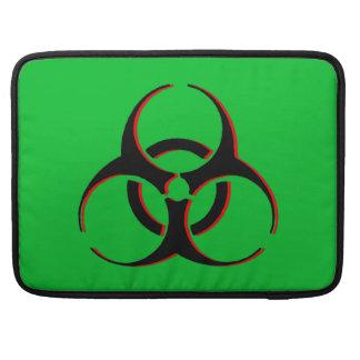 """Biohazard Macbook Sleeve 15"""" - Black, Red, Green. MacBook Pro Sleeves"""