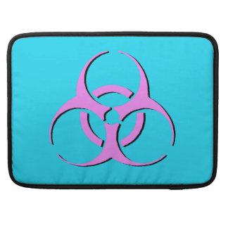 """Biohazard Macbook Sleeve 15"""" - Pink Black Blue Sleeve For MacBook Pro"""
