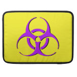 """Biohazard Macbook Sleeve 15"""" - Purple Black Yellow MacBook Pro Sleeves"""