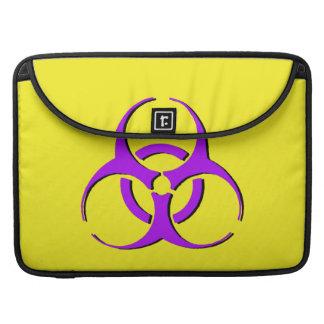 "Biohazard Macbook Sleeve 15"" - Purple Black Yellow Sleeve For MacBooks"