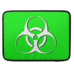 """Biohazard Macbook Sleeve 15"""" - White Black Green MacBook Pro Sleeves"""