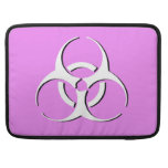 """Biohazard Macbook Sleeve 15"""" - White Black Pink Sleeves For MacBook Pro"""