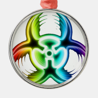 Biohazard Metal Ornament