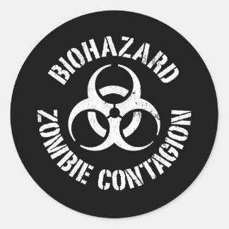 Biohazard: Pegatina del contagio del zombi