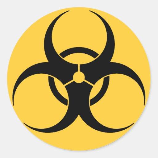 Biohazard Pegatina Redonda