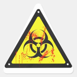 Biohazard Pegatina Triangular