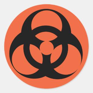 Biohazard - peligro biológico pegatina redonda