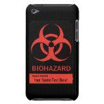 BioHazard personalizado que advierte la caja de iP Case-Mate iPod Touch Carcasas