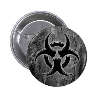 Biohazard pin button