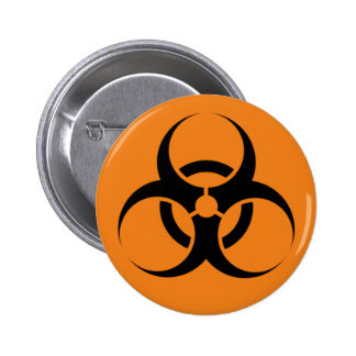 Biohazard Pin Redondo 5 Cm