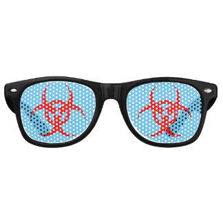 Biohazard Pinhole Party Glasses Wayfarer Sunglasses