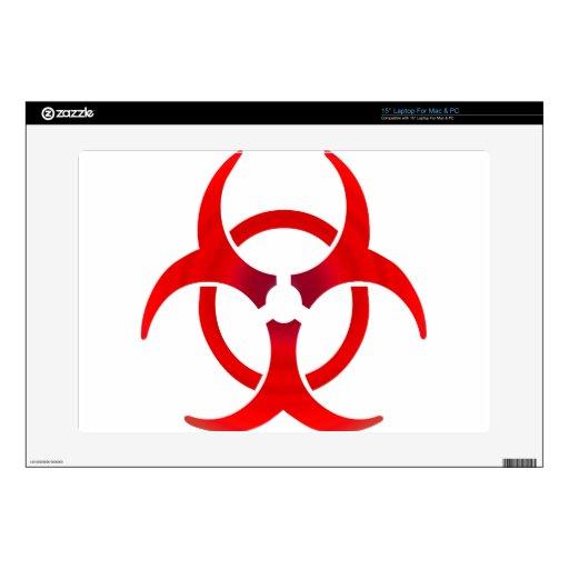 """Biohazard - RED 15"""" Laptop Decals"""