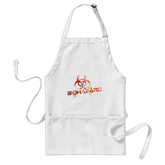 biohazard red adult apron