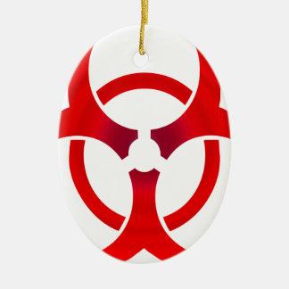 Biohazard - RED Ceramic Ornament