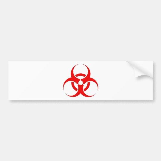 Biohazard red design bumper sticker Zazzle