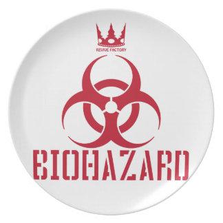 BIOHAZARD red Plate