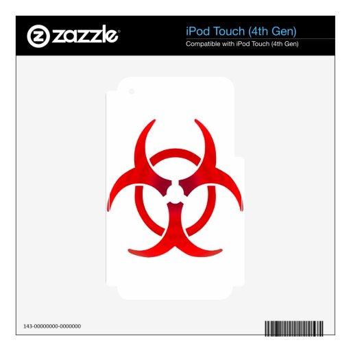 Biohazard - ROJO iPod Touch 4G Skins