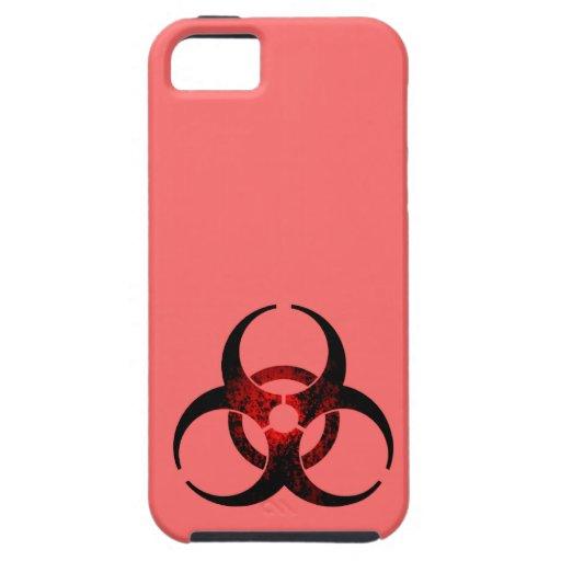 Biohazard rosado y negro apenado iPhone 5 fundas