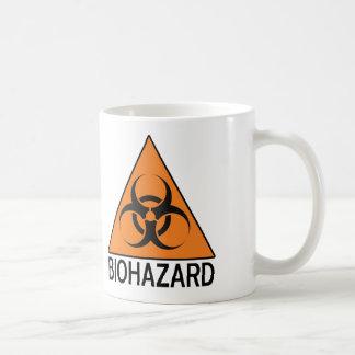 Biohazard sign classic white coffee mug