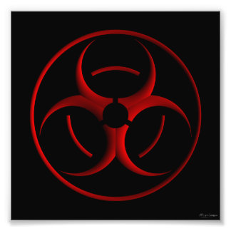 Biohazard sign print photograph