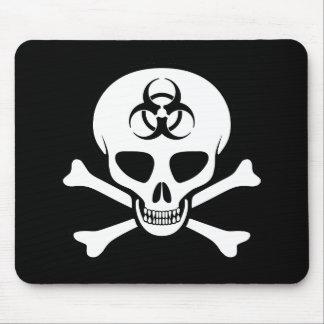 Biohazard Skull and Crossbones Mousepad