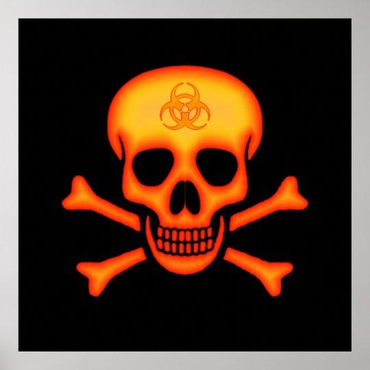 Biohazard Skull & Crossbones Poster