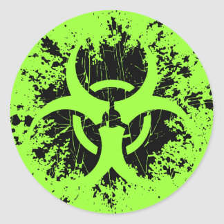 Biohazard - Splat Pegatina Redonda