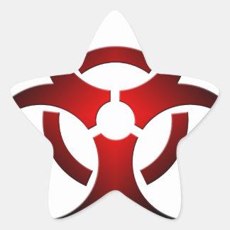 Biohazard Star Sticker