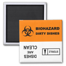 Biohazard Sterile Dishwasher Magnet at Zazzle