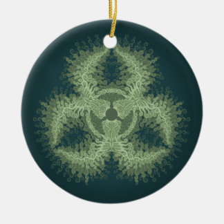 Biohazard Swirl Ceramic Ornament