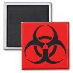 Biohazard Symbol 2 Inch Square Magnet