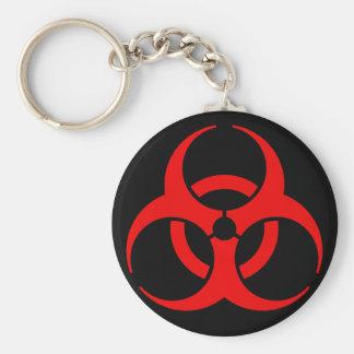 Biohazard Symbol Basic Round Button Keychain