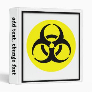 BioHazard Symbol Vinyl Binders