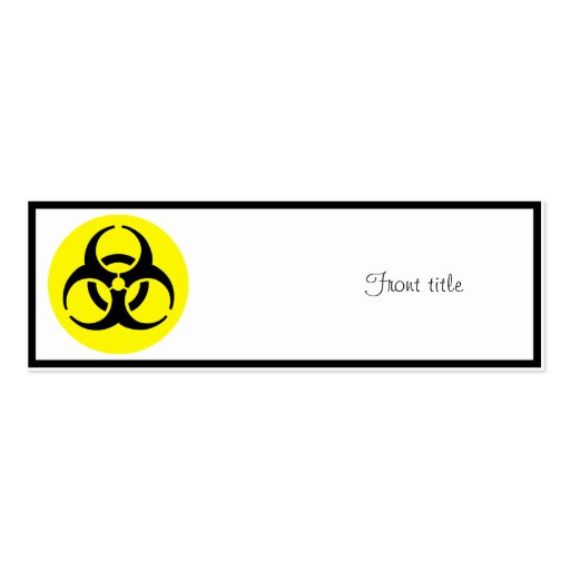 BioHazard Symbol Double-Sided Mini Business Cards (Pack Of 20)