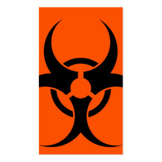 Biohazard Symbol Business Card Template