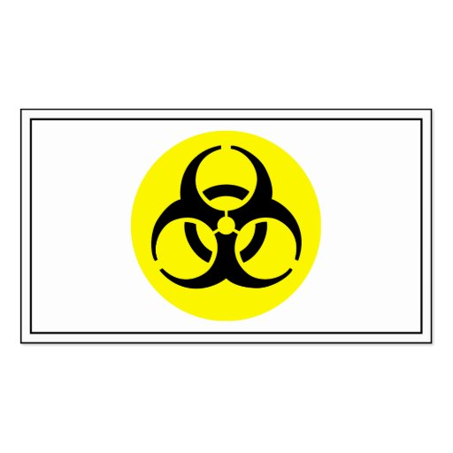 BioHazard Symbol Business Card Template
