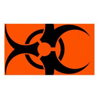 Biohazard Symbol Business Card Templates