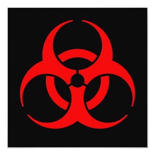 Biohazard Symbol Card