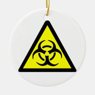 Biohazard Symbol Ceramic Ornament